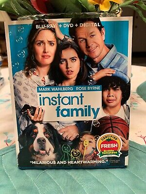 Instant Family (Blu-ray, DVD, Digital) BRAND NEW just released Mark Wahlberg
