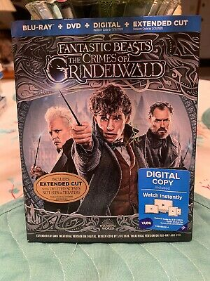 Fantastic Beast: The Crimes of Grindelwald (Blu-ray + DVD, 2019) Slipcover