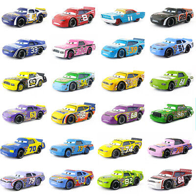 Disney Pixar Cars Racers No.4-No.123 1:55 Loose Metal Model Toy Car Kids Boys