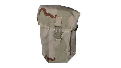 Lot Of 2 Army Military Surplus 200 Rnd Desert Camo Saw Ammo Utility Pouch Molle