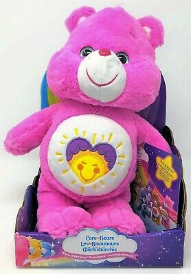 Care Bears Shine Bright Bear Pink Soft Plush Toy Care-a-Lot DVD Show of Shyness