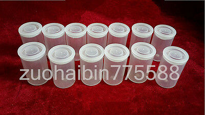 10PC Transparent Empty bottle 35mm film cans canisters containers JH03