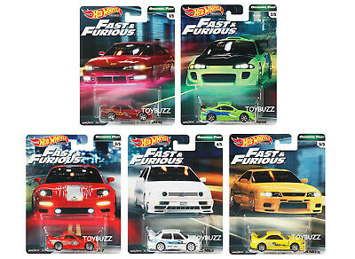 Hot Wheels 1:64 2019 FAST & FURIOUS PREMIUM GBW75-956B SET OF 5 NEW SHIPPING