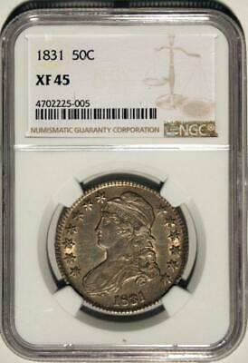 1831 Capped Bust Half NGC XF 45 Nice Original Coin with very gentle wear SEE PIX