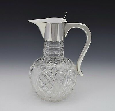 Dresser Style Silver & Cut Glass Claret Jug Hukin & Heath