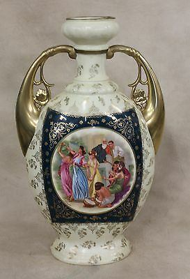 "Tall Royal Vienna Style Austria Portrait Urn Vase Classical Scene "" Floraliu"""