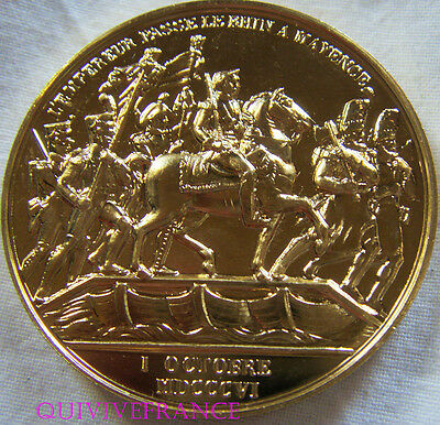 Med6061 - Medaille Napoleon L'empereur Passe Le Rhin A Mayence