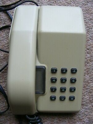 vintage bt viscount telephone. works ok when plugged in. cream colour