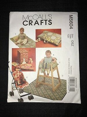 McCall's M5604 Sewing Pattern Baby Accessories High Chair Seat Stroller Cover ..