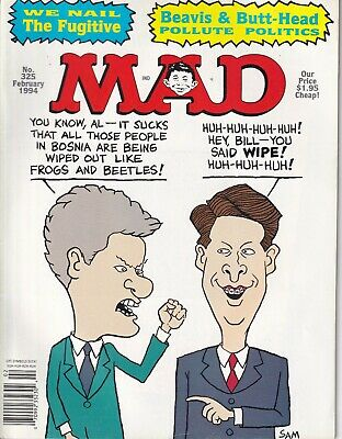 Mad Magazine Beavis & Butthead In Politics February 1994 No.325 022019nonr
