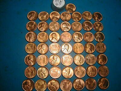 1946 S Lincoln Wheat Cent Penny Roll    50 Circulated Pennies