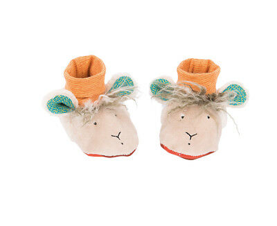 Moulin Roty Zig and Zag Fawn Soft Baby Slippers 0 - 6 months from Wyestyles