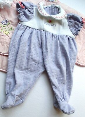 American Girl Bitty Baby Twin Doll 2005 Lavender Knit Meet Sleeper (only) *Sweet