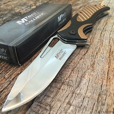 """8.25"""" Mirror BLD MTech Spring Assisted Open Tactical Rescue Combat Pocket Knife"""