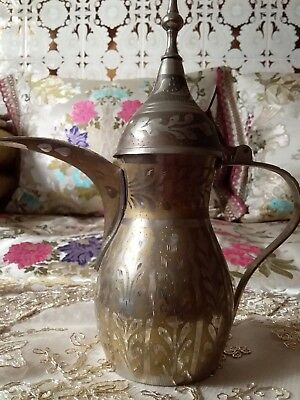 Islamic Arabic Dallah Tea Pot Copper Bedouin Brass Middle Eastern