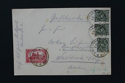 D9394 GERMAN EMPIRE 1923 inflation postcard 19 jan 23 with 25m postage (insuff.)