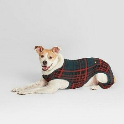 b11edea6a HEARTH AND HAND With Magnolia Red Plaid Dog Pajamas Size S NWT