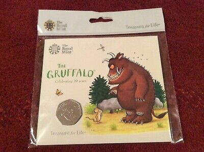 2019 The Gruffalo Brilliant Uncirculated 50p Fifty Pence Coin in Royal Mint Pack