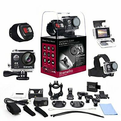 XtremePro 4K Ultra HD Camera Bundle Wireless Wrist Remote and 20 Accessories