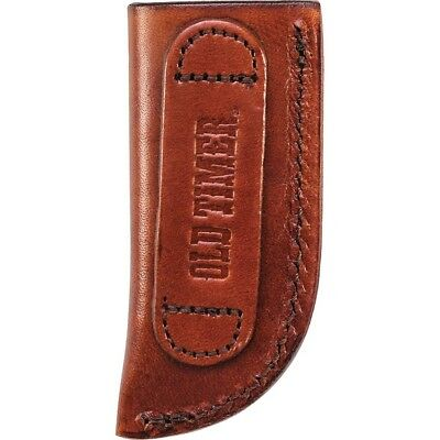 Schrade Old Timer Small Leather Slip In Knife Sheath Brown - FAST SHIPPING