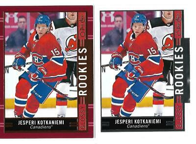 18-19 Ud Upper Deck Series 2 Hockey Jesperi Kotkaniemi Opc Rookie Glossy 2 Cards