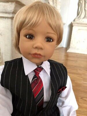 """WIG ONLY-DOLL NOT INCLUDED Wig By Masterpiece Dolls For 48/"""" Sleeping Beauty Blnd"""