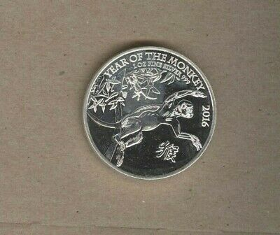 2016 Great Britain Two Pounds One Ounce Silver Year of the Monkey Coin!