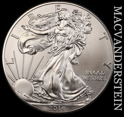 2014 American Silver Eagle- No Reserve !! Choice Gem Brilliant Unc !! #e8499