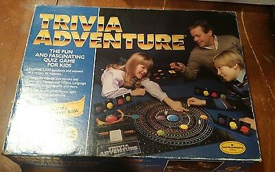 Vintage 1986 Trivia Adventure Family Board Game Complete by Pressman
