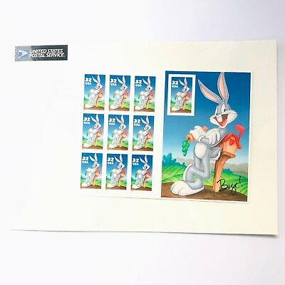US Scott 3137 Bugs Bunny Sheet Of 10 Full Color  32 Cent Stamp 1997