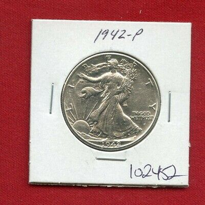 1942 Walking Liberty Silver Half Dollar #102452 $ High Grade Us Mint Rare Estate