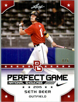 SETH BEER 2015 Leaf Perfect Game NIKE All-American SHOWCASE RED Rookie #/5
