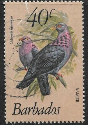 """Barbados 1979 40c.Birds """"Red-Necked Pigeon"""" SG631b Fine Used"""