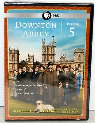 PBS Masterpiece: Downton Abbey Season 5 Brand New Factory Sealed FREE SHIPPING !