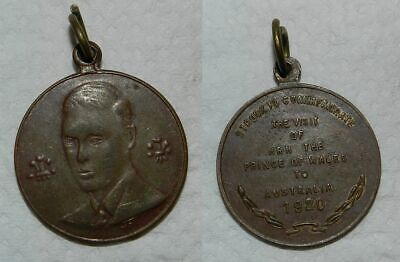 PRINCE OF WALES (Edward VIII) VISIT TO AUSTRALIA MEDAL 1920