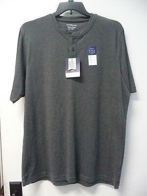1a1ebdf2 Croft & Barrow Short Sleeve Gray Henley Shirt Big & Tall Mens Size LT ...