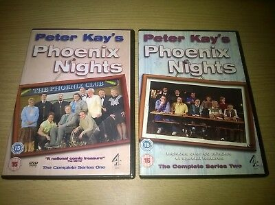 Phoenix Nights Complete Series 1 & 2 Peter Kay All 12 Episodes Genuine R2 DVD