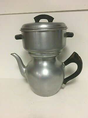 WEAR-EVER ALUMINUM COFFEE Pot Stove top-Camping Fire #3008 - $8 00