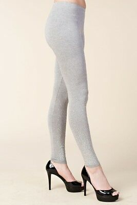 16cf43f40c219d nwt VOCAL EMBELLISHED LEGGINGS sexy slimming GRAY S M L XL bling skinny  pants