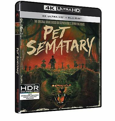 UK Release  New + Sealed 4K Pet Sematary (30th Anniversary) 4K + Bluray