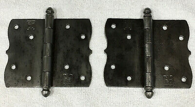 Antique Richards and Wilcox Steel Door Hinge Set