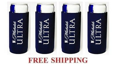 Michelob Ultra 4 Slim Can Holder Cooler Coozie Coolie Koozie Huggie New Bud