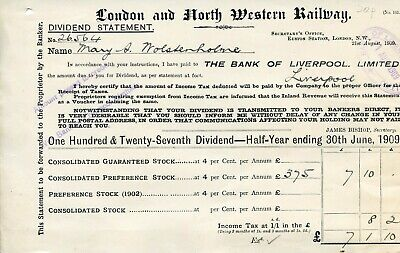 London & North Western Railway.  Ephemera relating to shares & consignment notes