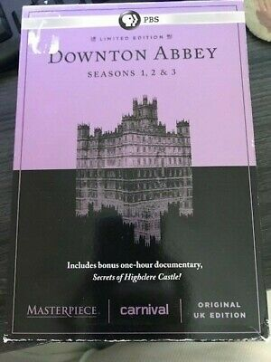 Downtown Abbey The Complete Series Collection DVD Season 1-3 PLUS BONUS SECRETS