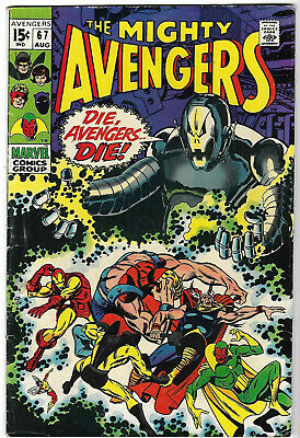 "1969. ""Mighty AVENGERS"" Marvel Comic Vol.1 #67. Silver Age.VG+"