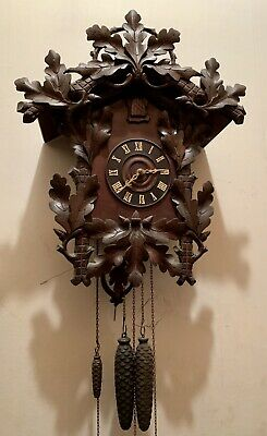LARGE Antique Black Forest 2 Tune Musical Cuckoo Clock Camerer Kuss Germany 1917
