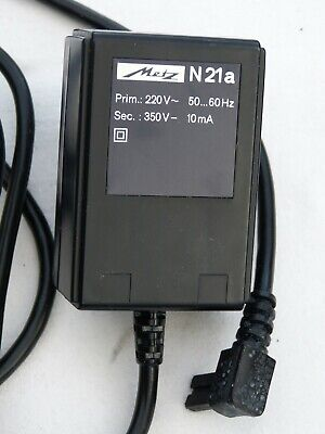 Vintage Metz Mecablitz N21A - N 21 A - Mains Adapter Charger - West Germany
