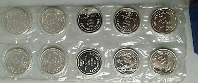 Lot of 10 Big Sky Country Montana JM Johnson Matthey 1 oz .999 Silver Round