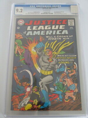 Justice League of America #55 1967 CGC 9.2 Off-White Pages 1st Golden Age Robin