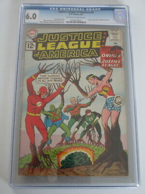 Justice League of America #9 1962 CGC 6.0 OW/W Pages Origin of Justice League